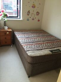 Double bed and mattress- in good condition- city center