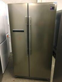 SAMSUNG RSA1SHPN American-Style Fridge Freezer - Platinum
