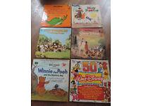 6 x Walt Disney Children's Vinyl Records