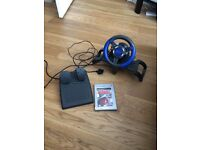 4Gamers Steering Wheel and Burnout Ps2 Game