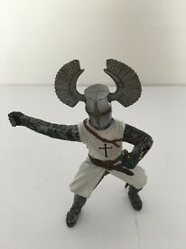 Knight Figure Toy. Silver and Grey