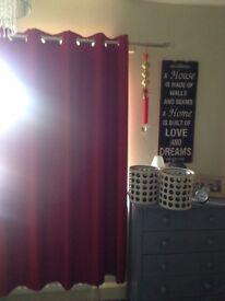 Curtains and lamp shades