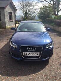 Audi A3 S line, Metallic Blue, excellent condition, low mileage.