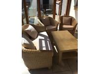 Conservatory furniture 2 seater 2 chairs coffee table