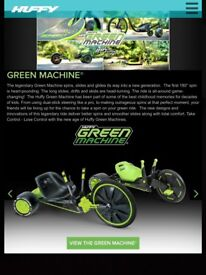 3 Wheel Green Machine and Stunt Scooters