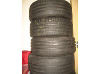Michelin 'Pilot Sport 3' set of 4 tyres 225 / 40 x 18 , hardly used.