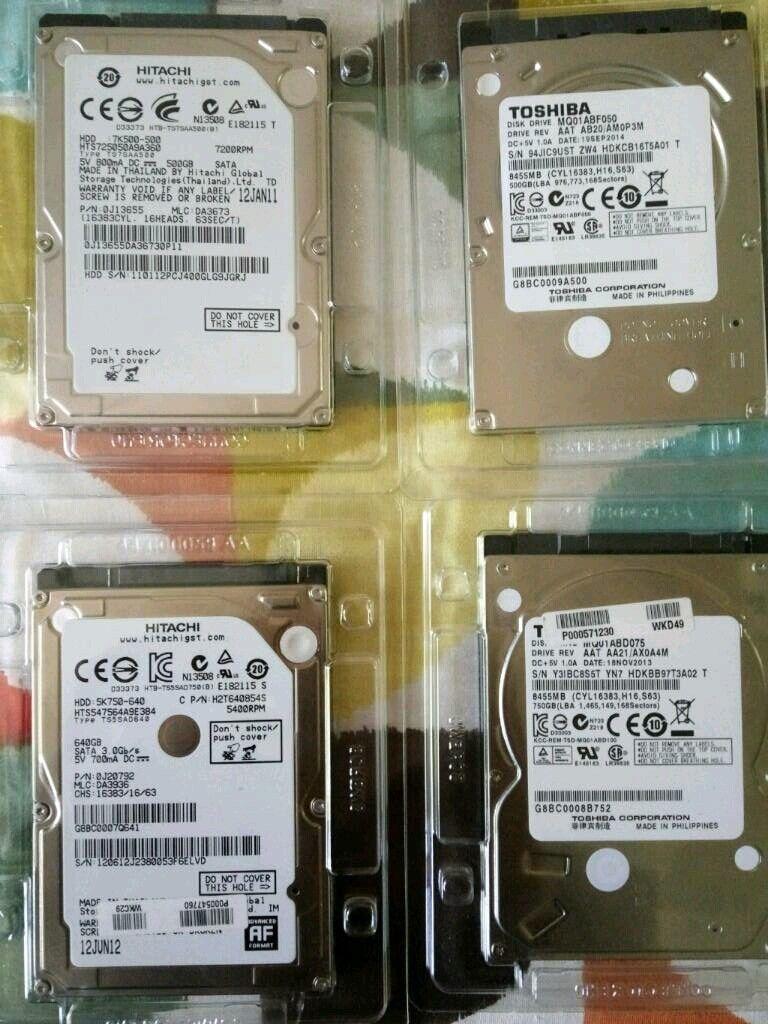 Fully Working Seagate Wd Hitachi Toshiba 250gb 500gb 750gb Hardisk Notebook 1tb 25 Inch Sata Pctek