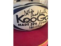 Signed Welsh team rugby ball