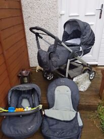 Silver Cross pram buggy car seat