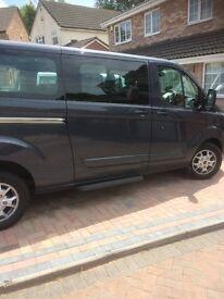 Ford Transit Custom Tourneo, 64 plate, 9 seater, Ltd Extra, Dark Blue, Bluetooth, satnav