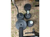 FREE Weights Kit and bench