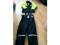 "Fladen Two Piece Rescue System Floatation Suit SIZE L ""only used the top twice"""