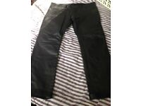 New Leather Cowhide Motorcycle Trousers (42w)