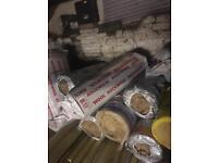 Loft roll insulation.