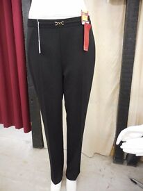 Brand new black straight leg trousers - size 16