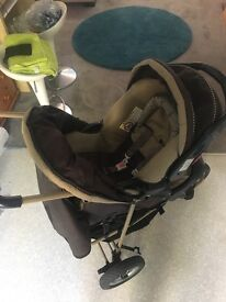 Travel system pram with car seat now reduced £40