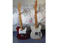 Fender telecasters for sale or exchange for gibson acoustic guitar