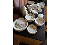 M and S autumn leaves dinner service