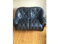 Leather two seater sofa x 2