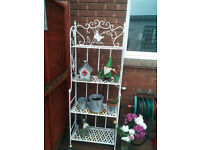 Barbecue + Organizer Folding Garden Shelves 4 tiers +plastic table+plastic winter greenhouse