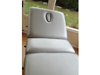 Therapy 2000 'Durham' silver portable massage therapy couch / table