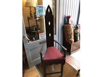 5 ft Wooden Hand Made Modern Chair with Cushion Feel free to view Height 5ft Free local delivery