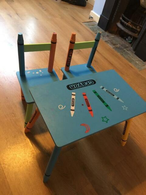 Sensational Crayon Kids Table And Chairs In Beccles Suffolk Gumtree Ocoug Best Dining Table And Chair Ideas Images Ocougorg