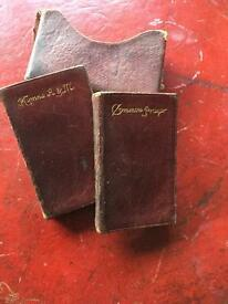Two miniature Hymn and Common Prayer Books in sleeve