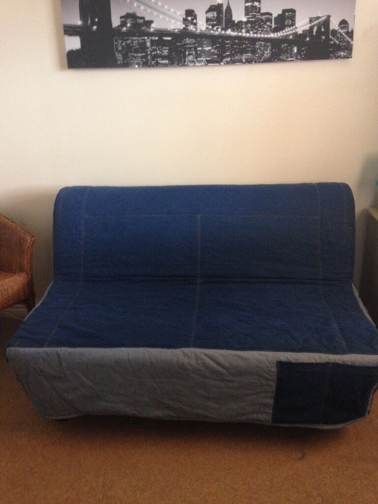 Ikea double sofa bed ads buy sell used find great prices Denim sofa ikea