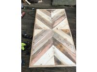 Custom handmade reclaimed wood coffee table