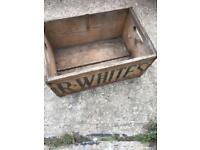 Old R . WHITES wooden box £20