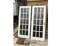 Hardwood Interior Double Doors