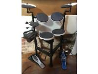 Roland TR-4 electronic drum kit with bass drum pedal
