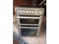 HOTPOINT silver double electric Cooker