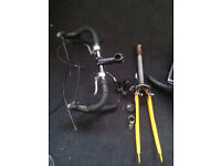 Handle bar 4 brakes lever Tektro, forks and saddle