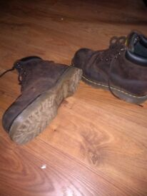 Dr Martin leather safety boots size 6