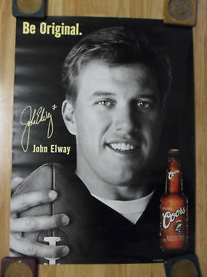 NFL Football Poster Coors Beer John Elway Denver Broncos Legend ~ Be Original