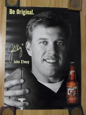 NFL Football Poster Coors Beer John Elway Denver Broncos Legend ~ Be Original