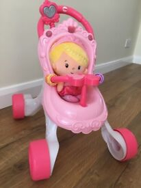 Fisher Price walker with doll, excellent condition