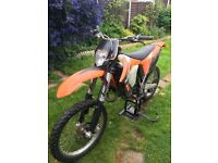 Ktm 150 2010 road legal bike new shape recent rebuild lots of spares fast machine enduro yz kx cr rm