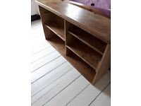 Old pine school bookcase. Would look stunning in a study, lounge or as a kitchen display cabinet