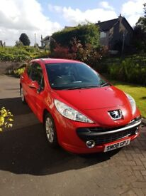 NEW PRICE !! Peugeot 207 S, 1.6, 3 dr. Gleaming Red/perfect black trim,New brakes, exhaust New MOT