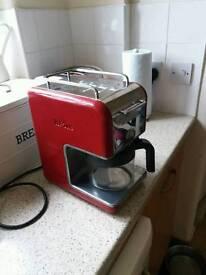 Kenwood Kmix red coffee machine