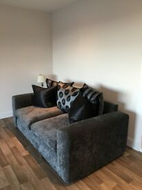 Three Seater Sofa - DFS - Excellent Condition - Fabric - Grey Design