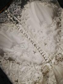 1950s style tea length wedding dress