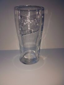 4 x Carling nucleated and tempered pint glasses