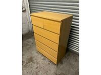 FREE DELIVERY IKEA MALM OAK CHEST OF SIX DRAWERS GREAT CONDITION