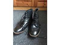 Designer leather boots size 9