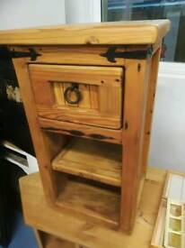 Rustic hand made side cabinet