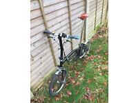 Brompton S2L folding black bike - great cond. with extras